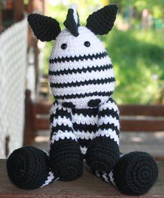 Crochet+Zebra+Stuffed+Animal+by+SistersBoutique2+on+Etsy,+$28.00