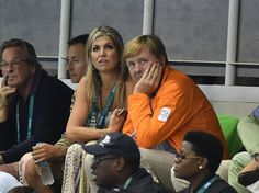 Queen Maxima and King Willem-Alexander of the Netherlands attended the Men's 4 x 100m Medley Relay Final on eighth day of the Rio 2016 Summer Olympic Games at the Olympic Aquatics Stadium on August 13, 2016 in Rio de Janeiro, Brazil.