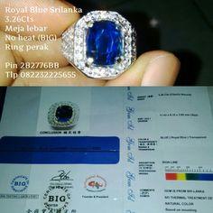 Royal Blue  3.26cts Srilanka  Fast Respons Pin 2B2776BB Tlp 082232225655