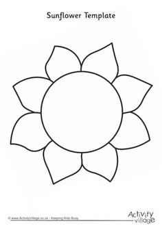 Here's our pretty sunflower head - no stem or leaves - for you to trace or use as a template for cutting out crafts. Description from activityvillage.co.uk. I searched for this on bing.com/images