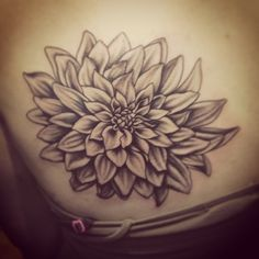 dahlia tattoo Woah, Woah, WOAH! That's exactly what I've been imagining!! Done.