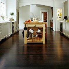 Wellmade Engineered Strand Woven Bamboo floors in Walnut finish.