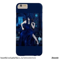 beautiful cool girly blue case barely there iPhone 6 plus case