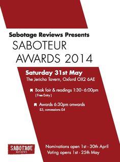 Saboteur Awards 2014: The Shortlist!