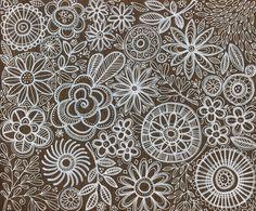 susan black design: ode to valentino Zen Doodle, Doodle Art, Zentangle Patterns, Zentangles, Susan Black, Sharpie Doodles, Doodle Sketch, Black Artists, Fabric Wallpaper