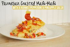 Parmesan Crusted Mahi-Mahi with a Sweet & Savory Hormel Pepperoni and Pineapple Salsa |Lauren Paints | a beautiful life