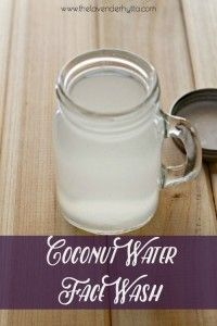 Coconut Water Face Wash http://thelavenderhytta.com/2016/03/09/coconut-water-face-wash/?utm_campaign=coschedule&utm_source=pinterest&utm_medium=Making%20Life%20An%20Adventure&utm_content=Coconut%20Water%20Face%20Wash An easy and natural face wash that will leave your skin feeling amazing.