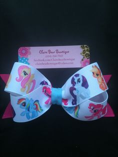 My Little Pony Bow by ClaireBearBowtique on Etsy, $4.25