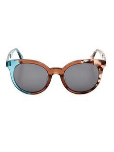 Tri-colour round-framed sunglasses | Fendi | MATCHESFASHION.COM