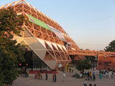 Brutalist Pyramid Week: New Delhis pyramidal fair grounds are about to get demolished!Raj Rewal: Pragati Maidan New Delhi India 19691972http://ift.tt/1VE0FpL  Photo: Rameshng 2010 (Public Domain)