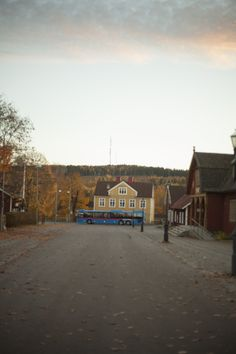 A bus passing by in Kopparberg