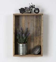 Reclaimed Wood Shadow Box | Display indoor greenery, vintage knickknacks or your well-cura... | Shadow Boxes