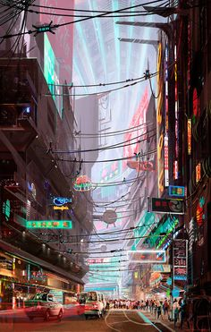 Cyberpunk Atmosphere, illustrated by James Chung #scifi inspiration