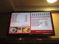 Menu's are easier to read and images create a vibrant look
