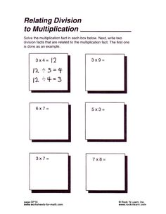 math worksheet : 1000 images about relating multiplication to ision on  : Relating Multiplication And Division Worksheets