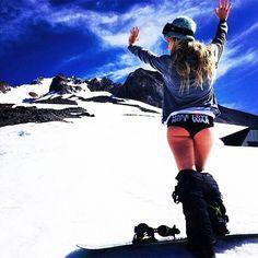 Ready for a day on the snow in my panties! ☀️Get SUM! Snowboard Girl, Snow In Summer, Winter Fun, Hannah Teter, Mikaela Shiffrin, Hawaiian Girls, Snow Girl, Snow Fun, Snow