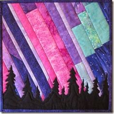 Northern Lights quilt pattern, 33.5 x 24.5, by Marie Noah at ... : northern lights quilt pattern - Adamdwight.com