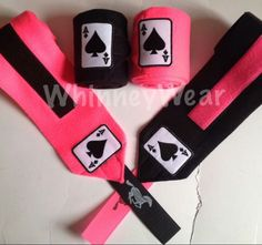 Pink and black ace