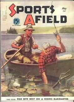 1941 Sports Afield magazine vintage hunting fishing