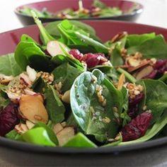 Reduce sug to 1T Jamies Cranberry Spinach Salad - Allrecipes.com