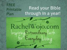 Bible Reading Plan: Free and Printable- Read Your Bible Through in a Year