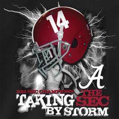 Alabama Crimson Tide 2012 SEC Championship T-Shirt - Storm GameDay Depot: College Sports Apparel, College Gear, Shop, Merchandise, Fan, NCAA, Store, Clothing