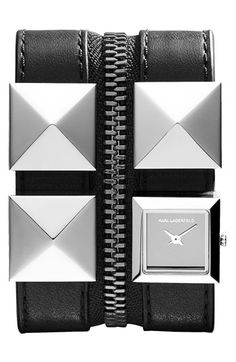 KARL LAGERFELD Double Strap Cuff Watch I NEED!!!!!!!!! ZOMG totally saving!