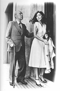 Jorge Luis Borges and Maria Kodama Anais Nin, Writers And Poets, Charming Man, Book Writer, Playwright, Portraits, Life Drawing, My People, History