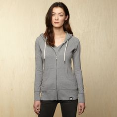 Womens Midweight Full Zip Hooded Sweatshirt