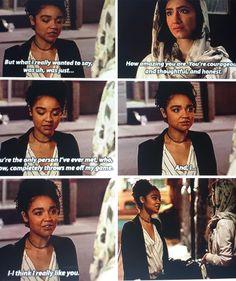 Kat telling feelings to Adena #theboldtype