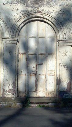 Door detail in evening. Harrisburg Oregon.