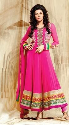 Splendorous Georgette Susmita Sen Anarkali Suit