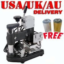HOT FOIL STAMPING MACHINE TIPPER BRONZING PVC CARD+2 FREE FOIL PAPER 110/220V l2