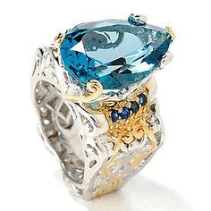 Gems en Vogue 12.32ctw Pear Shaped London Blue Topaz Ring - 107-100 Retail Value:  $507.50 EVINE Price:  $481.75 Event Price: $298.18   Save: $183.57 (38% off)  or  6   ValuePay®:    $49.70 Shipping & Handling: $7.99 Select Size: 8