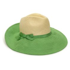 Dunes Lane Straw And Linen Sun Hat ($35) ❤ liked on Polyvore featuring accessories, hats, cappelli, green, straw beach hat, straw hat, sun hat, bow hat and straw sunhat