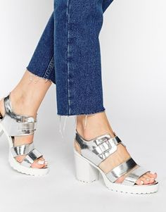 New Look Pelican Buckle Heeled Sandals. Love these!