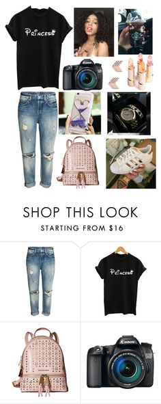 """""""Haven't posted in a while #at Starbucks🍵🍩✴💸"""" by kaycameron ❤ liked on Polyvore featuring MICHAEL Michael Kors, Eos and FOSSIL"""