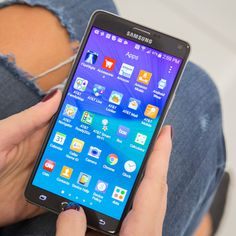 The Samsung Galaxy Note 4.