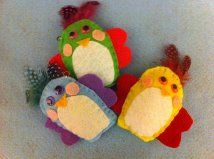 Felt Easter chickies ornaments