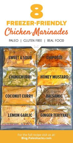 Basic paleo meals best paleo cookbook,fast easy paleo dinner is the paleo diet healthy,paleo diet no no paleo recipes. Paleo Chicken Marinade, Paleo Chicken Recipes, Real Food Recipes, Cooking Recipes, Healthy Recipes, Freezer Cooking, Marinades For Chicken, Paleo Freezer Meals, Marinated Chicken Recipes