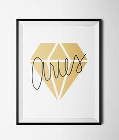 Aries Diamond Print