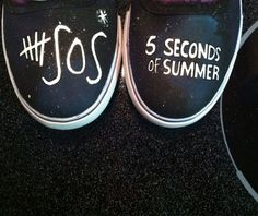 5 Seconds of Summer Custom Canvas Shoes by BombAssKicks on Etsy