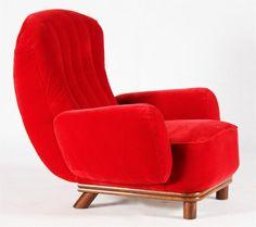 Chair by Guglielmo Ulrich - Art Deco Furniture, Vintage Furniture, Furniture Design, Mid Century Chair, Mid Century Furniture, Cozy Chair, Mid Century Design, House Design, Armchairs