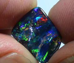2.45 ct Full Electric Gem Color Queensland Boulder Opal  BOULDER OPAL FROM OPALAUCTIONS.COM