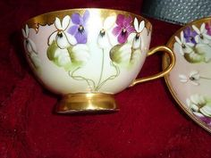 beautiful Martial Redon LImoges tea cup and saucer 1891-1896