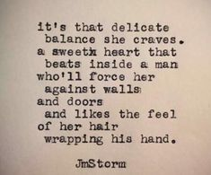 "JMSTORMQUOTES ""Balance."" In My Head is available through Amazon. #jmstorm #jmstormquotes #inmyhead"