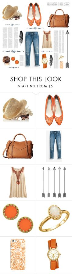 """""""Adventure is Out There"""" by elzykizer ❤ liked on Polyvore featuring Mark & Graham, HUGO, Vince Camuto, White House Black Market, Calypso St. Barth, House of Harlow 1960, Oris, Casetify and Tory Burch"""