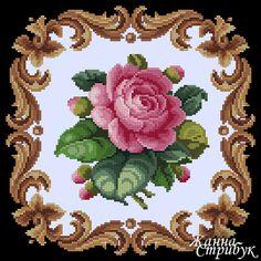 Gallery.ru / Фото #1 - 070618 - pustelga Cross Stitch Pillow, Cross Stitch Borders, Cross Stitch Rose, Modern Cross Stitch Patterns, Cross Stitch Flowers, Cross Stitch Designs, Cross Stitching, Cross Stitch Embroidery, Embroidery Patterns