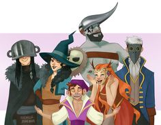 """felinetrickster: """" More Critical Role fanart featuring Scanlan and his wonderful hats """""""