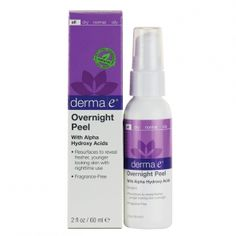 Skin Care - Derma-E Overnight Peel with Alpha Hydroxy Acids- 2 Oz - Wallpaper Pinme Home Remedies For Acne, Acne Remedies, Younger Skin, Younger Looking Skin, Organic Skin Care, Natural Skin Care, Essential Oils For Face, Drugstore Skincare, Alpha Hydroxy Acid